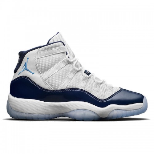 "Men's Air Jordan 11 ""Win Like 82"" White/University Blue-Midnight Navy 378037-123"