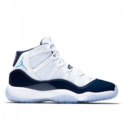 "Grade School's Air Jordan 11 ""Win Like 82"" White/University Blue-Midnight Navy 378038-123"