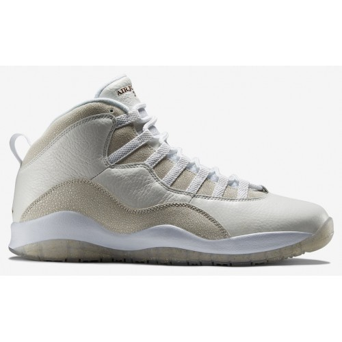 819955-100 Air Jordan 10 Retro OVO Summit White/Metallic Gold-White