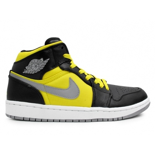 364770-050 Air Jordan 1 Retro Phat Mid Ripstop Black Yellow