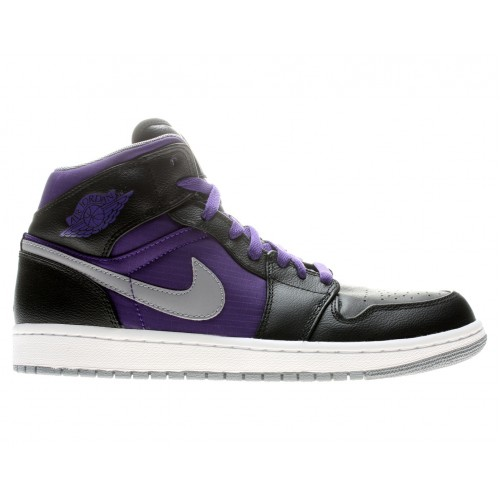 364770-018 Air Jordan 1 Retro Phat Black Stealth-Court Purple-White