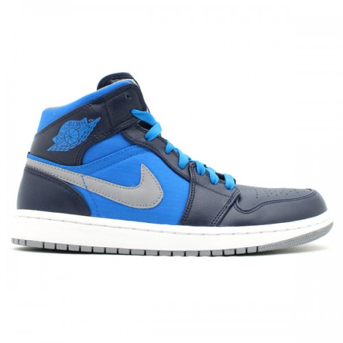 364770-405 Air Jordan 1 Retro Phat Obsidian Stealth phosphate blue-white