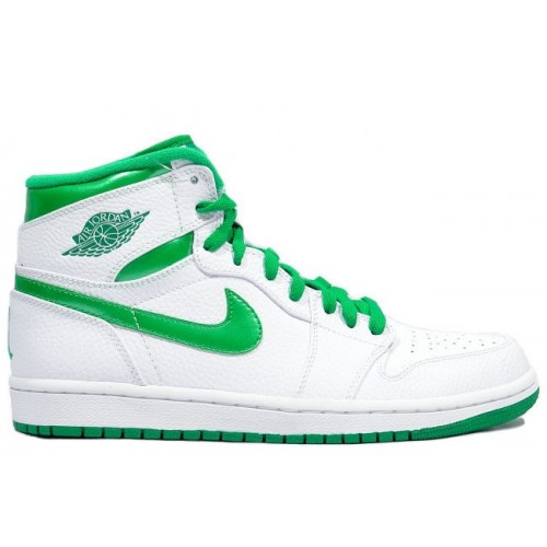 344613-061 Air Jordan 1 Retro High Mens Basketball Shoes White Green A01013