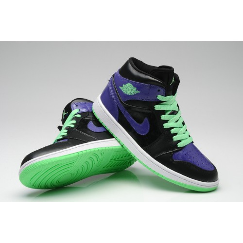 Air Jordan 1 Retro Joker All-Star Black Green Purple (Men Women GS Girls 34c461bbb5