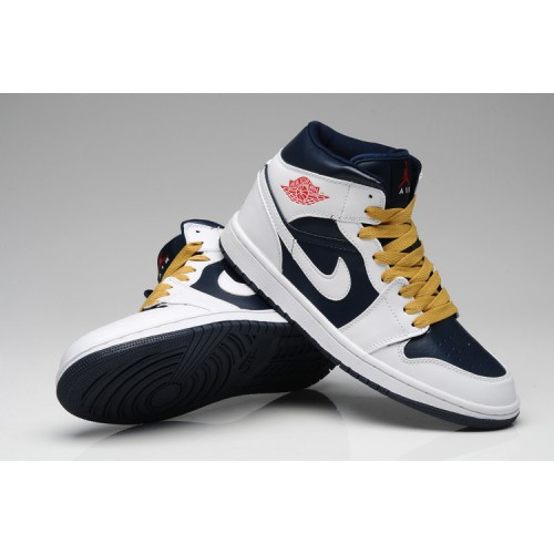 Air Jordan 1 Retro Mens High White Gym Red Yellow Blue Shoes