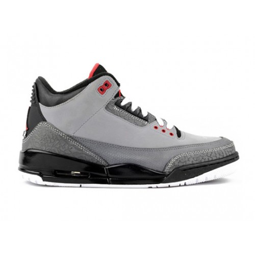 136064-003 Air Jordan Retro 3 (III) Stealth Stealth Light Graphite Black Varsity Red A03002