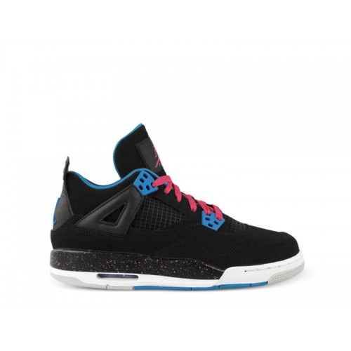 487724-019 Air Jordan 4 (IV) Black Dynamic Blue-White-Vivid Pink