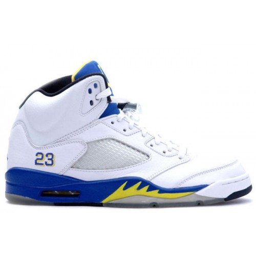 136045-141 Air Jordan Retro 5 (V) Laney White Varsity Royal Varsity Maize A05007
