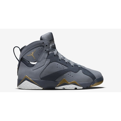 Authentic 442960-407 Air Jordan 7 Retro Girls Blue Dusk/Metallic Gold-Obsidian-White