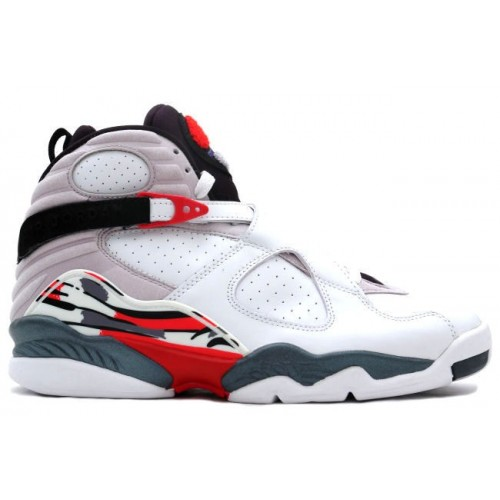 305381-103 Air Jordan 8 Retro White Hyper Blue-True Red-Flint Grey