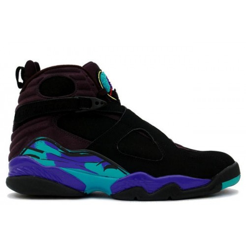 305381-041 Air Jordan Retro 8 (VIII) Aqua Black Bright Concord Aqua Tone A08001