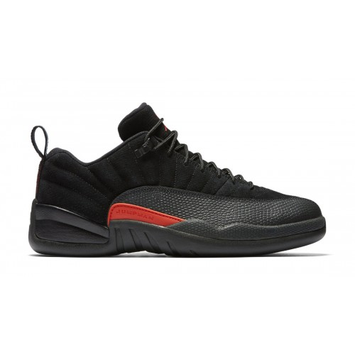 "Authentic Air Jordan 12 Retro Low ""Max Orange"" Black/Max Orange-Anthracite-Metallic Silver (308317-003)"