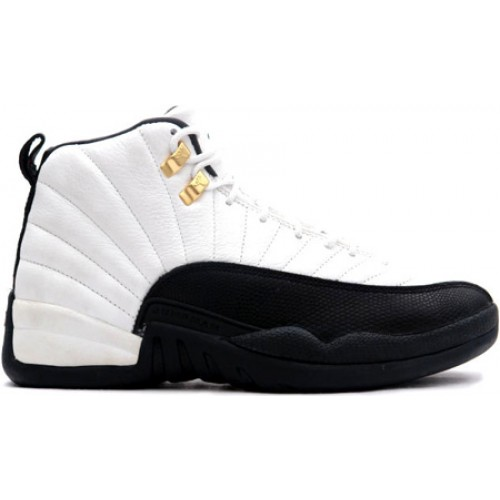 Air Jordan 12 Retro 130690-125 White/Black-Taxi 2013 Men's Shoe