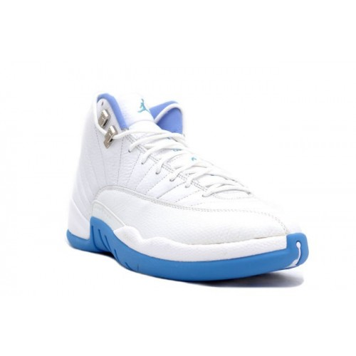 136001 142 Air Jordan XII 12 Retro Mens Basketball Shoes Melo White Blue A12011