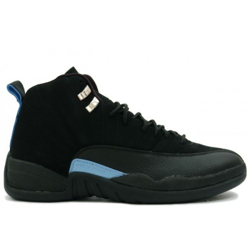 136001-014 Air Jordan XII 12 Retro Mens Basketball Shoes Nubuck Black Blue A12008