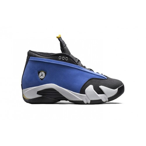 Authentic 807511-405 Air Jordan 14 Retro Low Varsity Royal Maize-Black-White