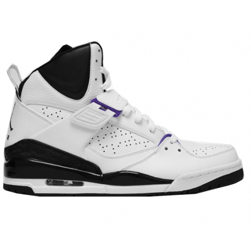 384519-108 Air Jordan Flight 45 High White Varsity Purple Black A18005