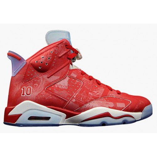 best sneakers 9a2ab 66e22 Authentic 717302-600 Air Jordan 6 Retro Varsity Red Varsity Red-White  Women s