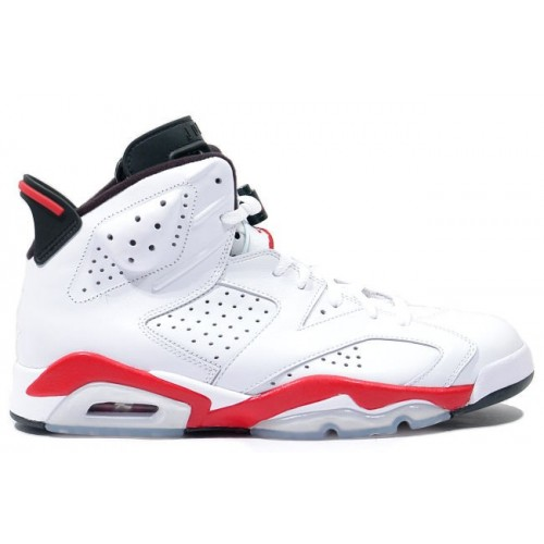 Authentic 384664-123 Air Jordan 6 (VI) Original White infrared Black Women's Shoe