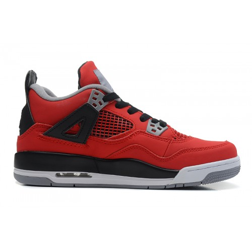 408452-603 Air Jordan 4 Retro Fire Red White-Black-Cement Grey Women