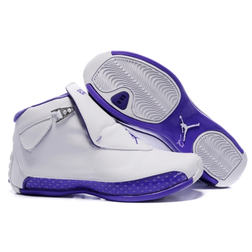 305869-163 Air Jordan 18 Original OG White Women Purple A24005