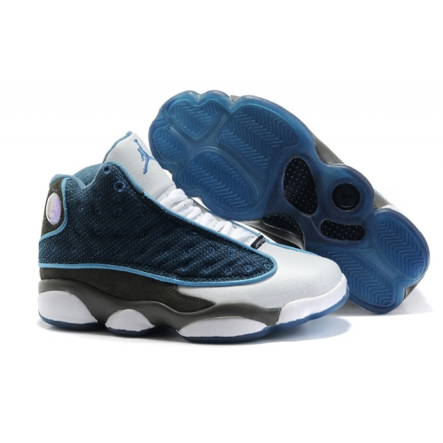414574-401 Air Jordan 13 Women flint French Blue University Blue Flint Grey A24025