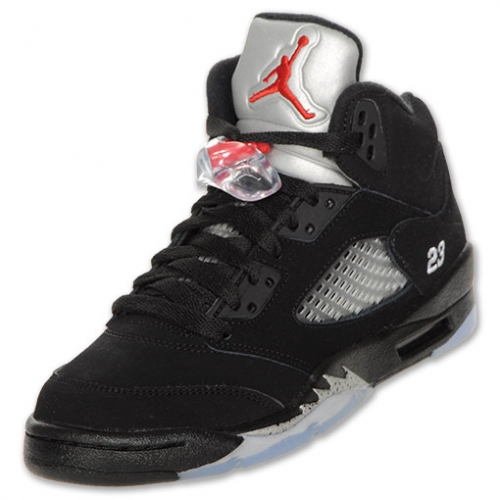 wholesale dealer 32540 9b687 440888-010 Air Jordan 5 retro (gs) 2011 release black metallic silver vrsty  ...