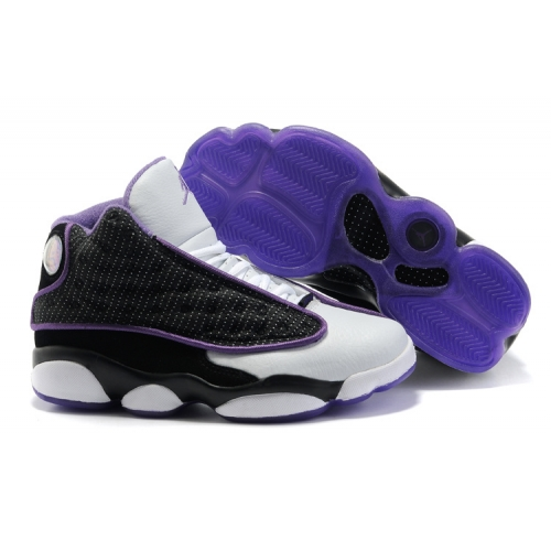 414575-101 Air Jordan 13 Retro Women White Black Varsity Purple A24026
